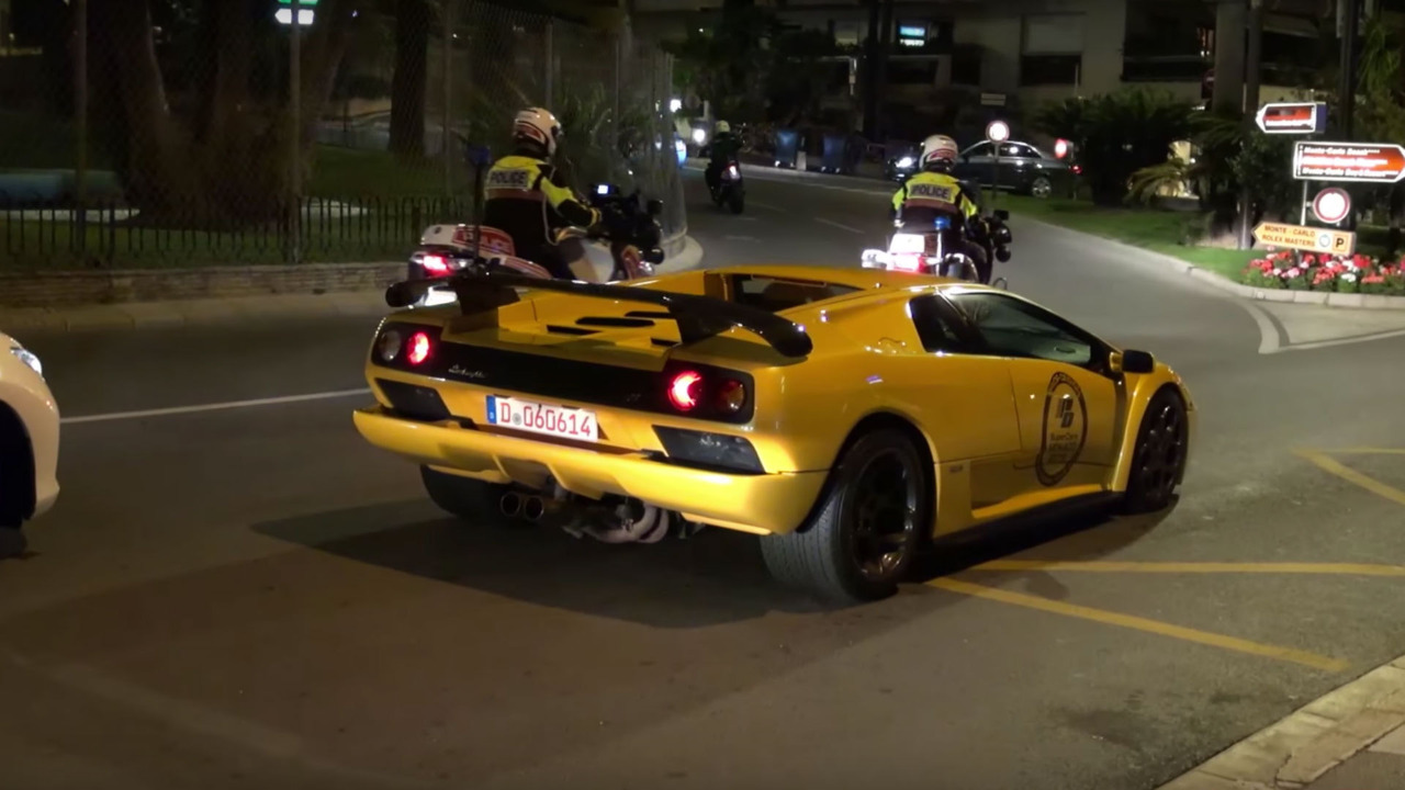 Monaco supercars caught by police