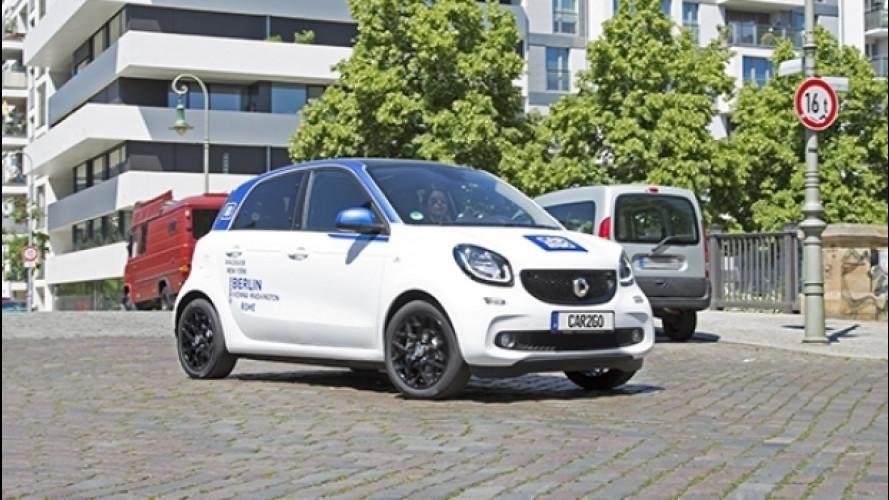 car2go, la smart forfour arriva a Milano