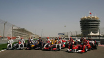 All the Formula 1 drivers pose for a photo - Formula 1 World Championship, Rd 1, Bahrain Grand Prix, Friday