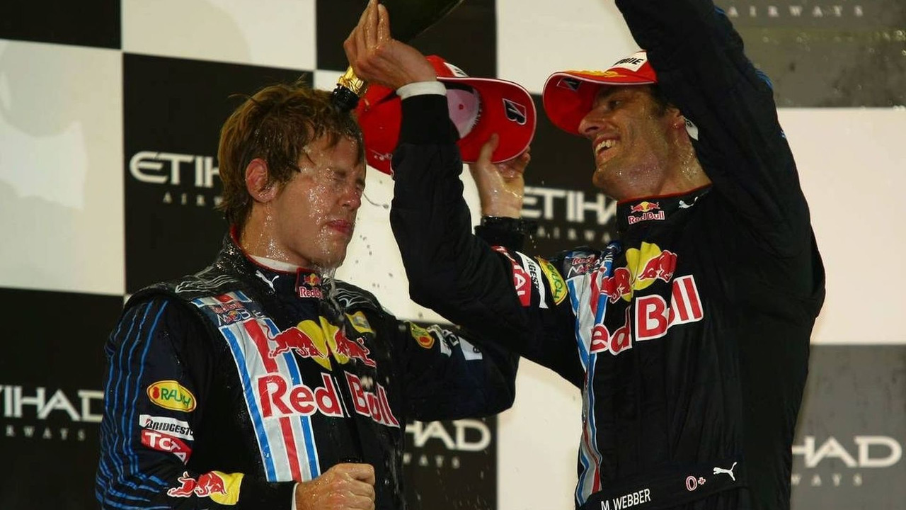 1st place Sebastian Vettel (GER), Mark Webber (AUS), Red Bull Racing, Abu Dhabi Grand Prix, 01.11.2009, Abu Dhabi, United Arab Emirates
