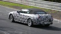 BMW 6 Series convertible spy photo at Nurburgring