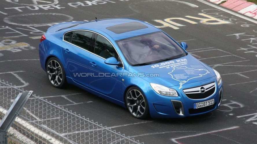 Opel Announces Insignia OPC Nurburgring Final Testing on Bonnet