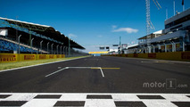 The start / finish straight at Hungaroring