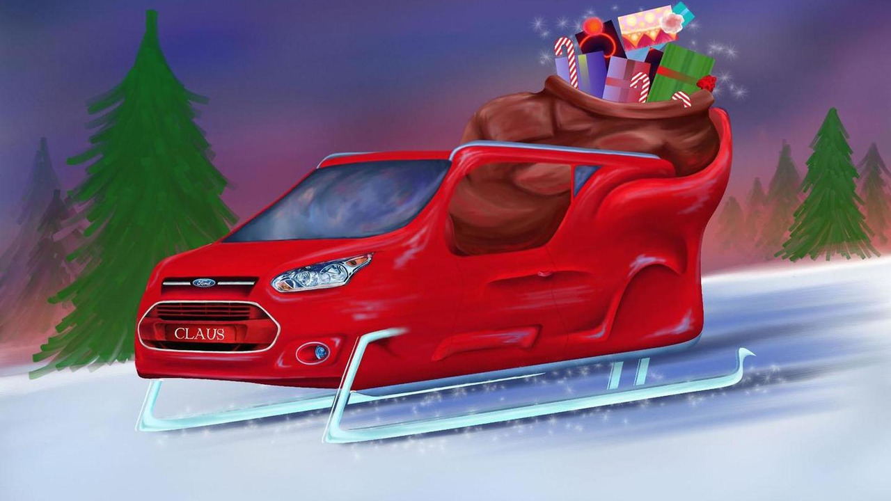 Ford Transit Connect sleigh 24.12.2012