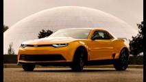 Este é o Camaro Bumblebee que estará no filme