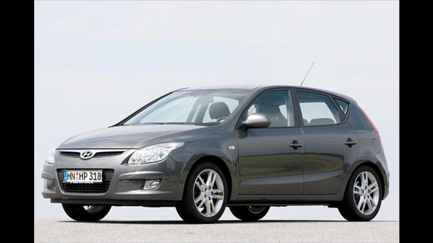 Ein bisschen Geld sparen: Hyundai i30 blue