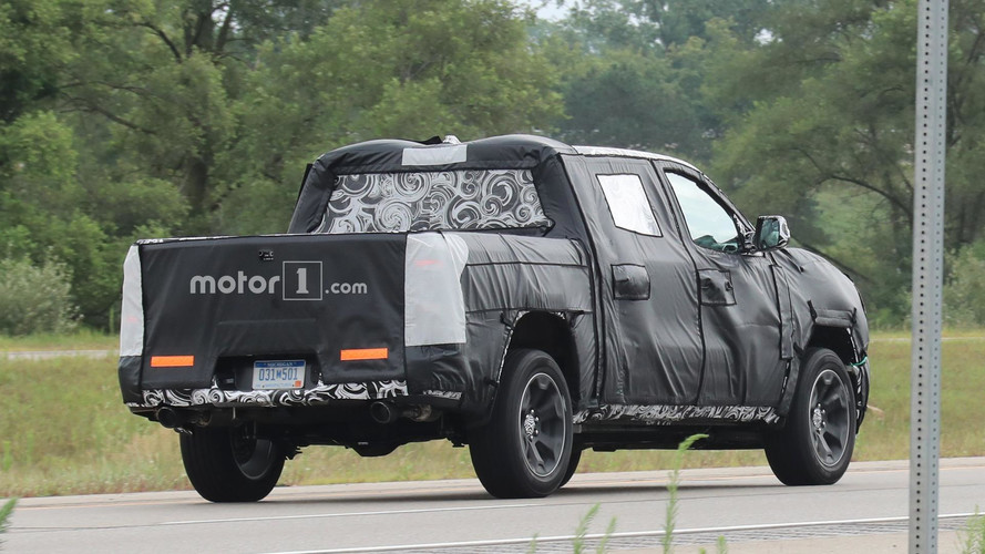 2019 Ram 1500 Spied Close-Up With Steel Body