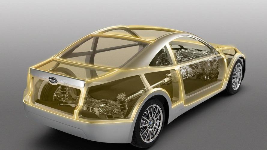 Unfinished Subaru BRZ Prologue boxer sports car revealed