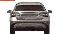 Mercedes-Benz GLA 180 CDI leaked patent photo 12.11.2013