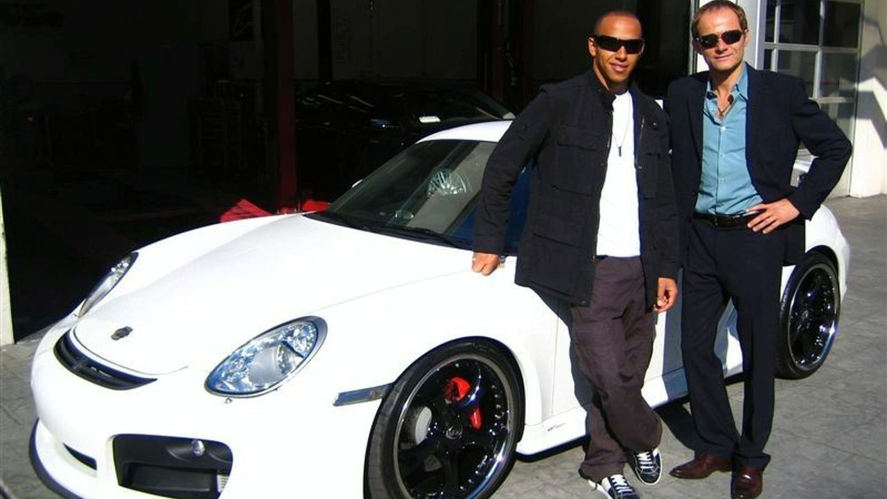 Lewis Hamilton with TechArt 997 in LA