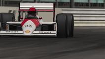 1988 McLaren en Mónaco por la noche