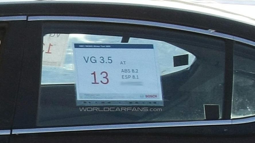 Kia VG Luxury Sedan Spied Winter Testing