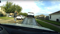 Nissan GT-R tow truck driver joyride