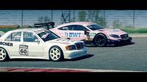 Mercedes-Benz 190E ve C63 DTM yarışı