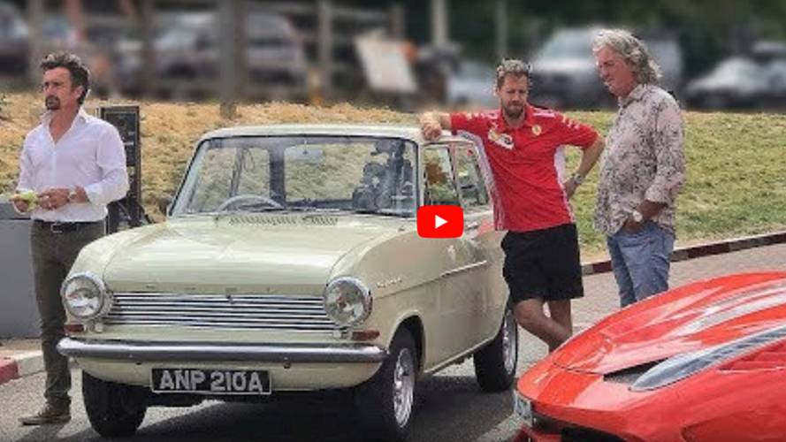 Sebastian Vettel spotted filming with Grand Tour hosts
