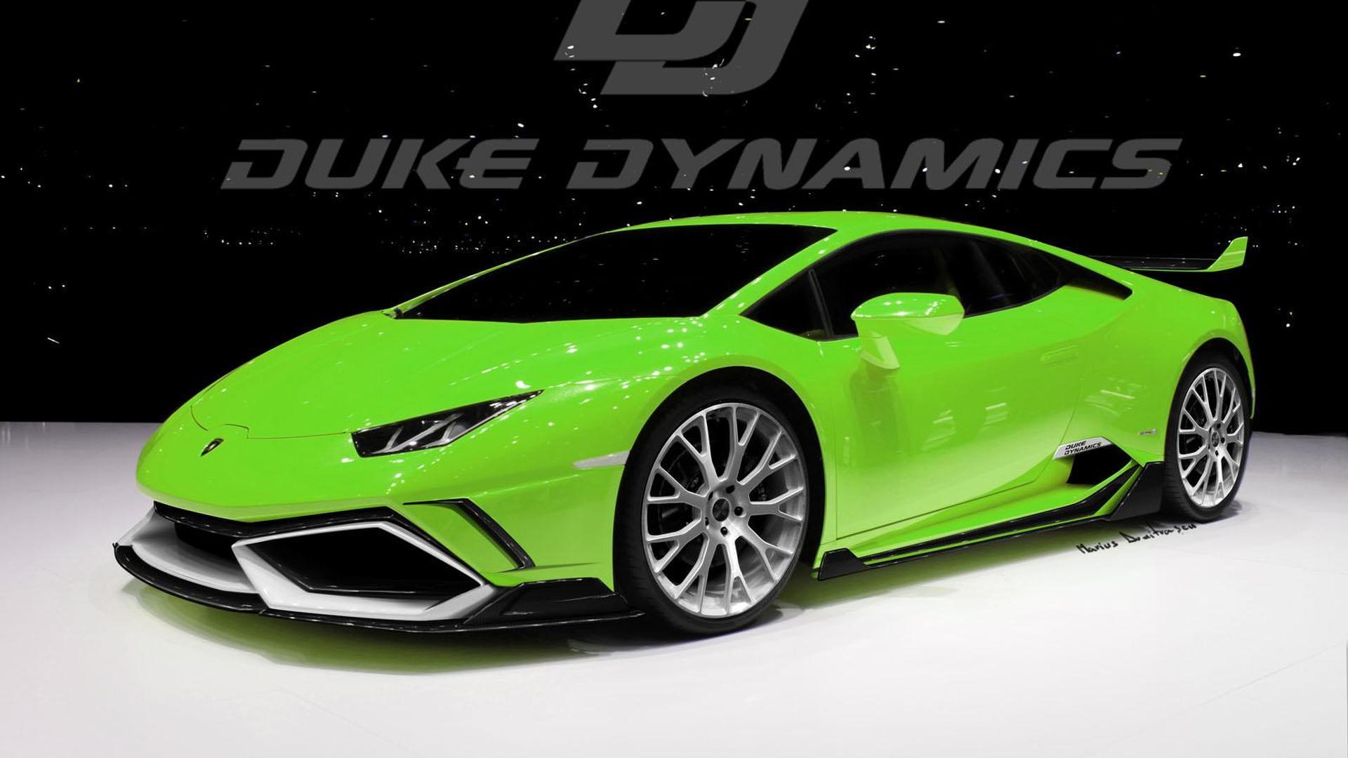 Зелёный Lamborghini Huracan от Duke Dynamics