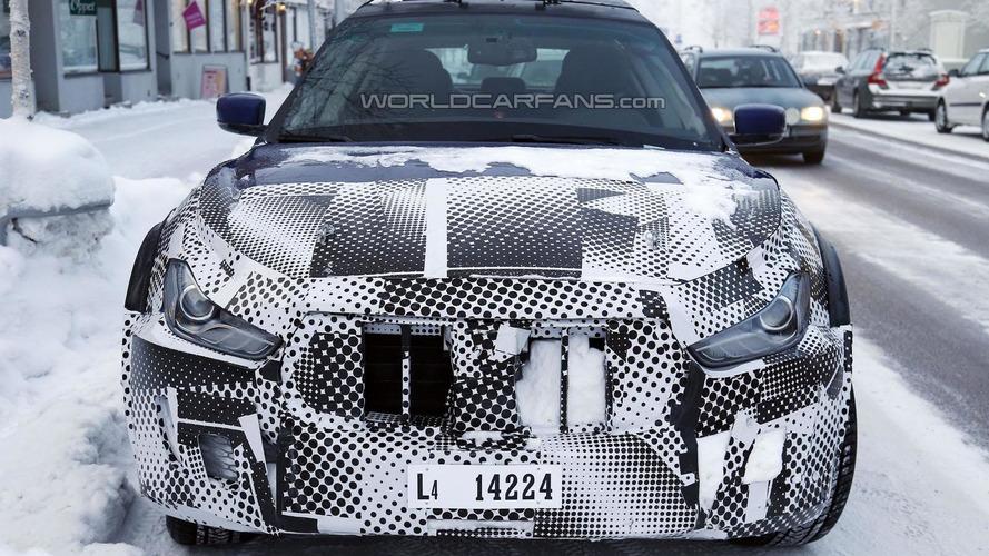 2016 Maserati Levante mule spied in Scandinavia