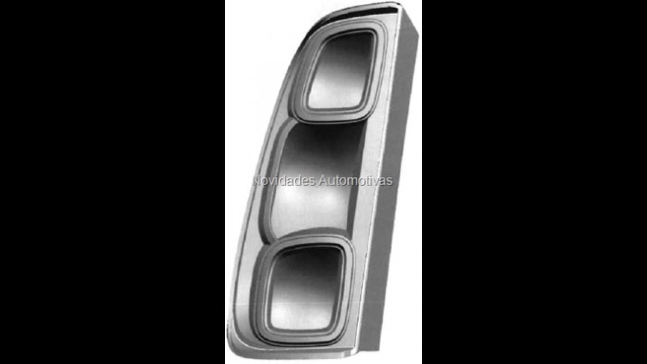 Novo Fiat Uno 2011 - Primeira imagem do modelo vaza no site do INPI