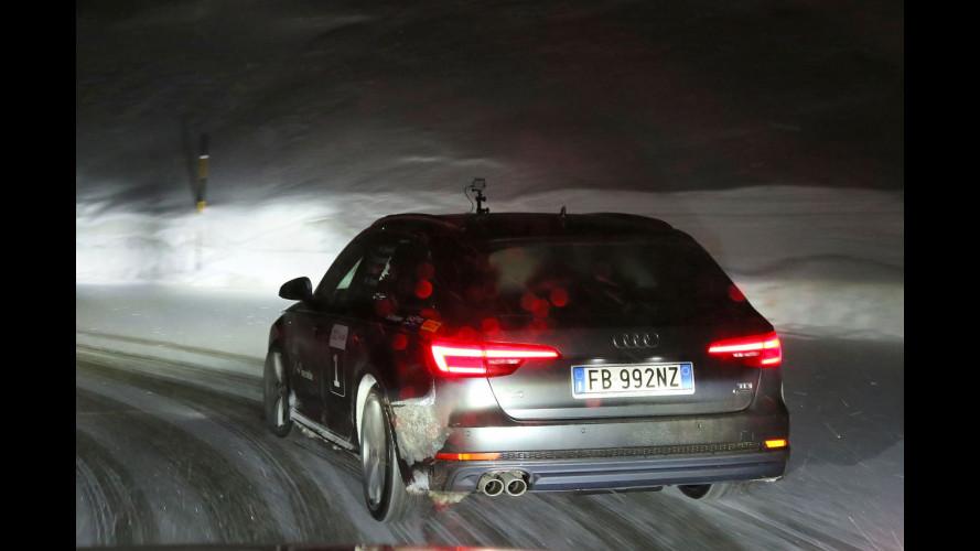 Audi A4 Avant, la nostra 20quattro ore delle Alpi in notturna [VIDEO]