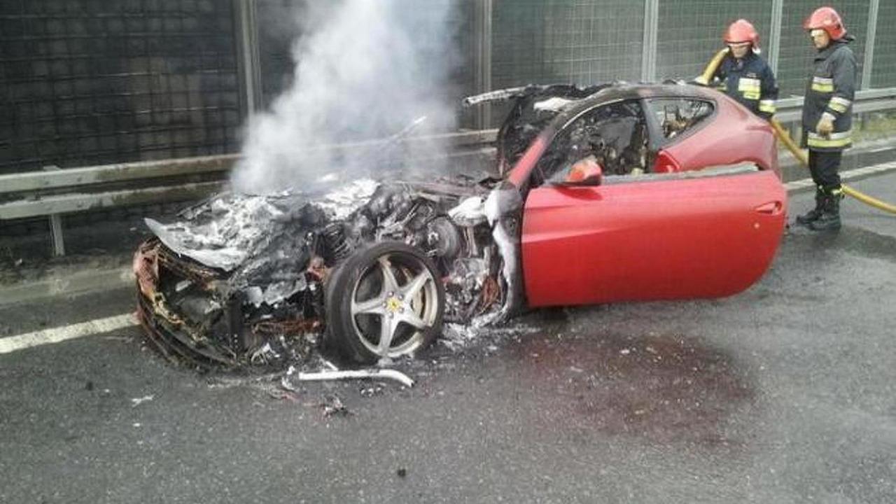 Ferrari FF fire in Poland 28.5.2012