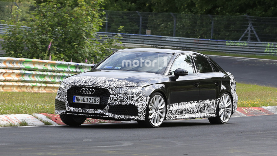 Audi RS3 Sedan flexes its muscles on camera