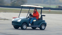 Cayenne golf car test at Porsche devel. center