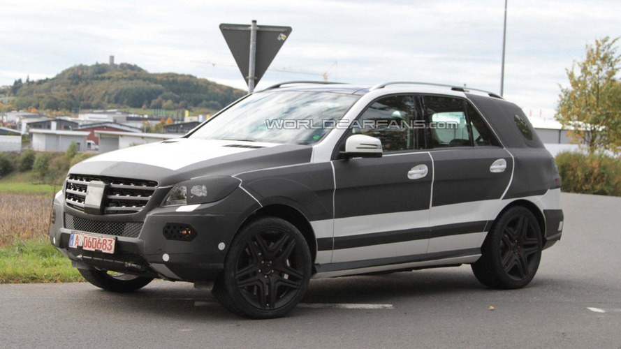 2012 Mercedes ML AMG spied with less disguise