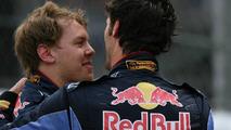 Sebastian Vettel (GER), Red Bull Racing and 1st place Mark Webber (AUS), Red Bull Racing - Formula 1 World Championship, Rd 6, Monaco Grand Prix, 16.05.2010 Monaco, Monte Carlo