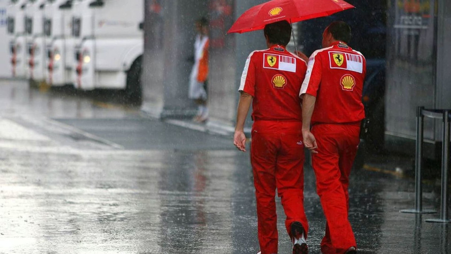 Rain at Monza after qualifying