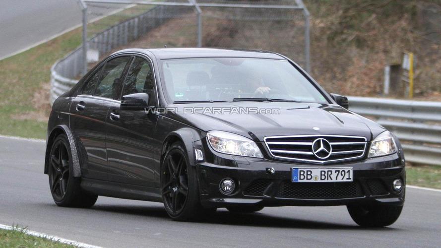 Mercedes-Benz C63 AMG Black Series sedan spied on the Nürburgring