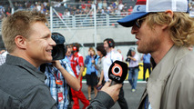 Mika Salo with Owen Wilson 25.11.2012 Brazilian Grand Prix