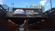 Jaguar F THE MEETING billboard
