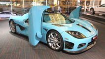 One-off turquoise Koenigsegg CCXR for sale in Dubai