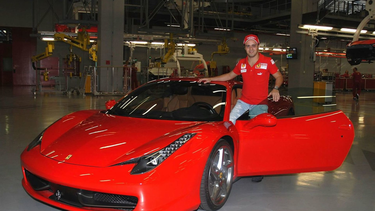 Felipe Massa with Ferrari 458 Italia