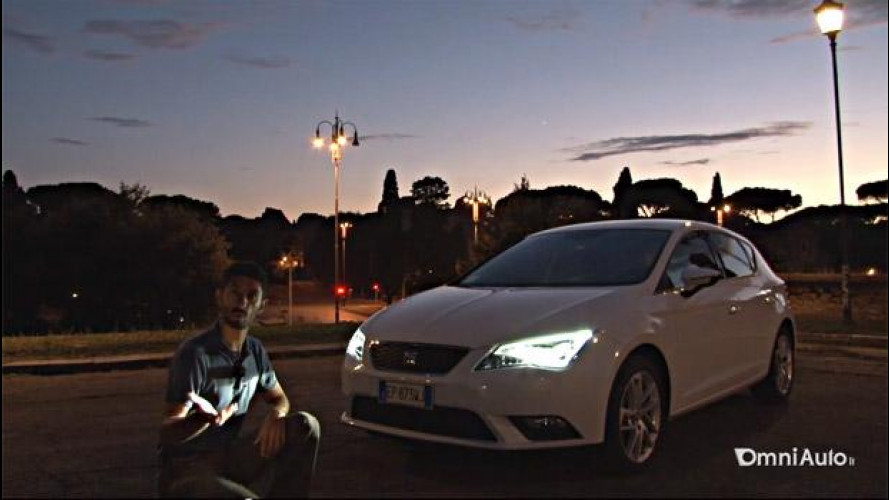Nuova Seat Leon 1.6 TDI 105 CV, prova su strada dei fari full LED [VIDEO]