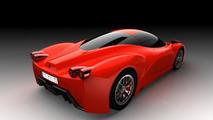 Ferrari F70 supercar artist rendering