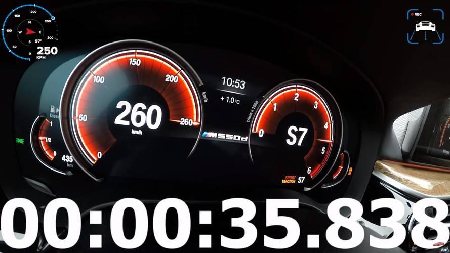 Diesel Power: BMW M550d Speed Limiter Kicks In After 35 Seconds