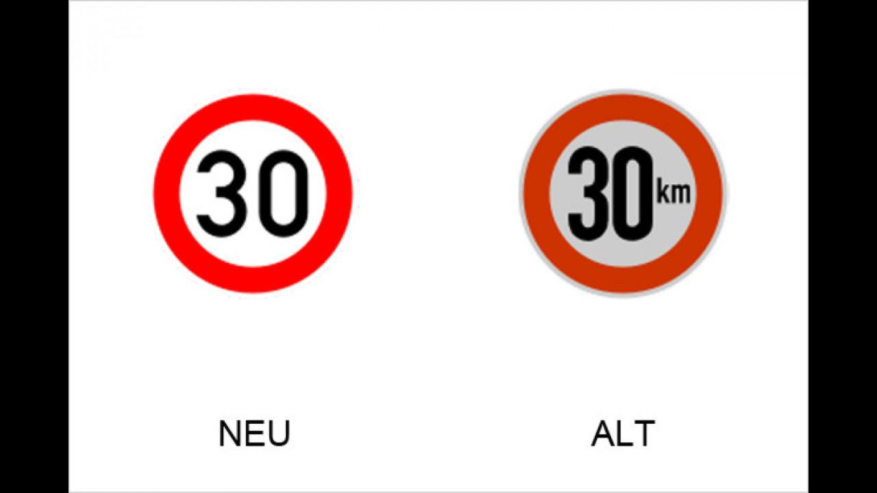 Zulässige Höchstgeschwindigkeit