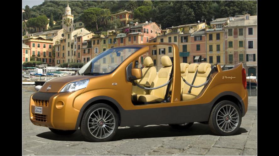 Show-Van Portofino: Der Fiat Fiorino lässt die Sonne rein