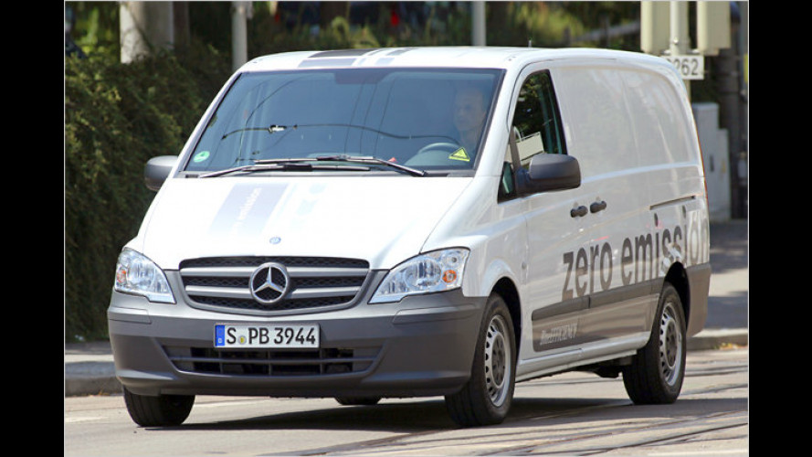 Leiser Lieferwagen: Unterwegs im Mercedes Vito E-Cell