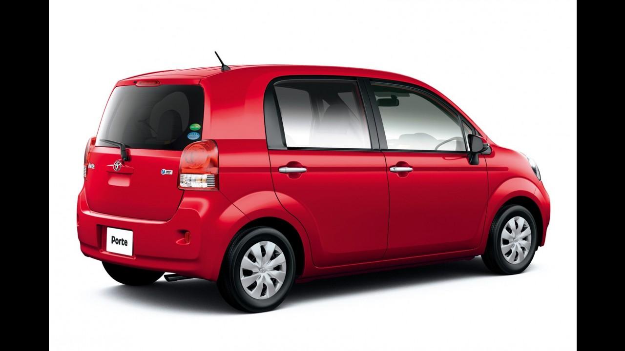 Monovolume de três portas: Toyota apresenta nova geração do Porte no Japão