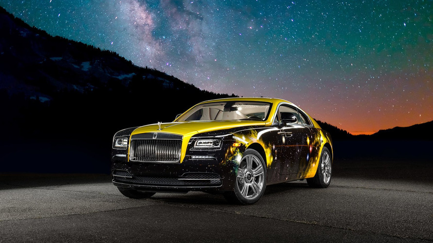 NFL star Antonio Brown gives his Rolls-Royce Wraith a galactic make-over