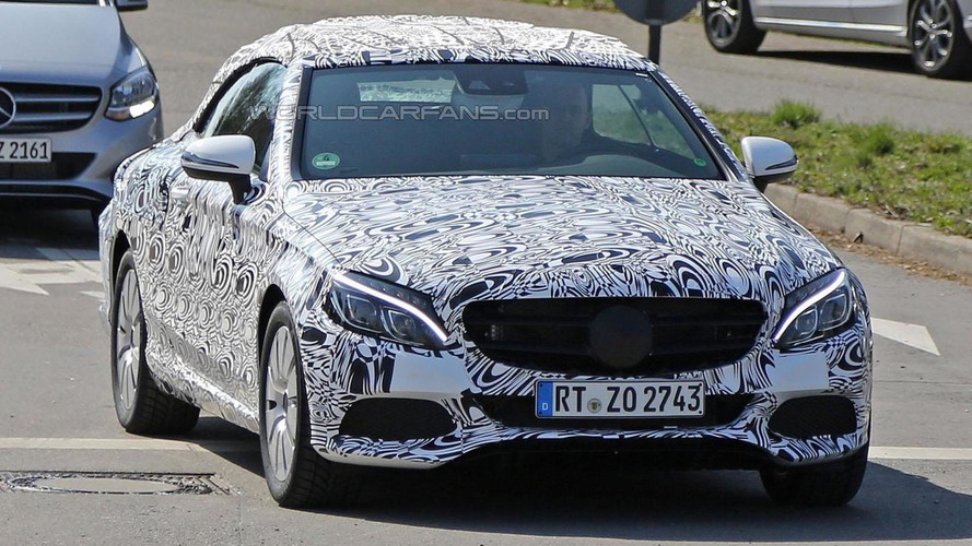 Mercedes C-Class Cabrio spied once again