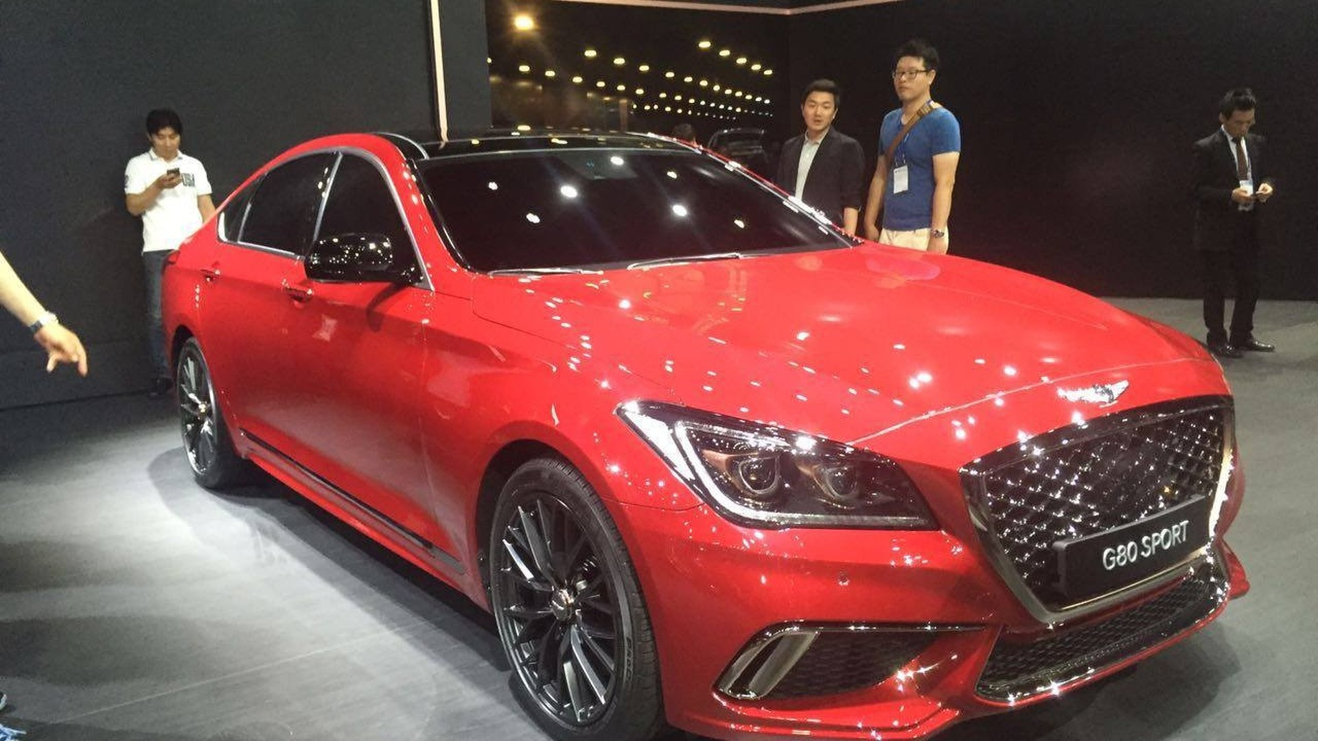 2017 genesis g80 debuts with sport version at busan motor show. Black Bedroom Furniture Sets. Home Design Ideas