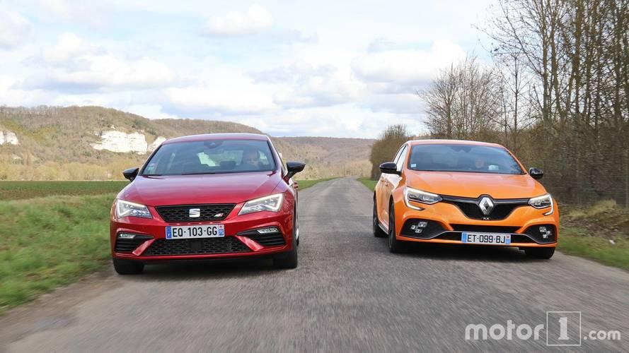 Essai comparatif - La Renault Mégane R.S. affronte la SEAT Leon Cupra