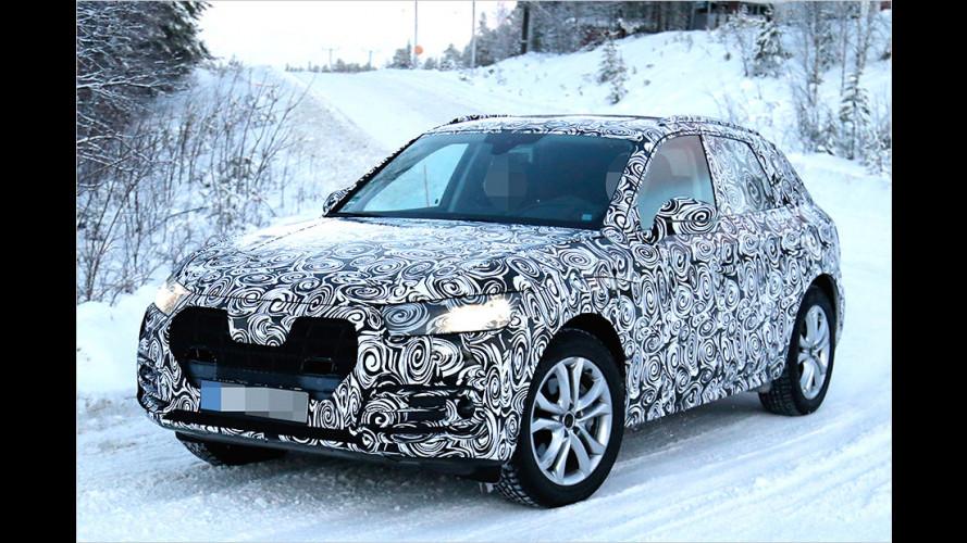 Audi Q5 eiskalt am Polarkreis erwischt