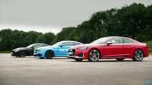 Audi Vs Mercedes VS BMW In German Drag Race