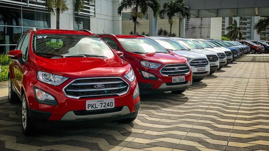 Mais vendidos - Ford EcoSport é o único SUV no Top 10 da Argentina