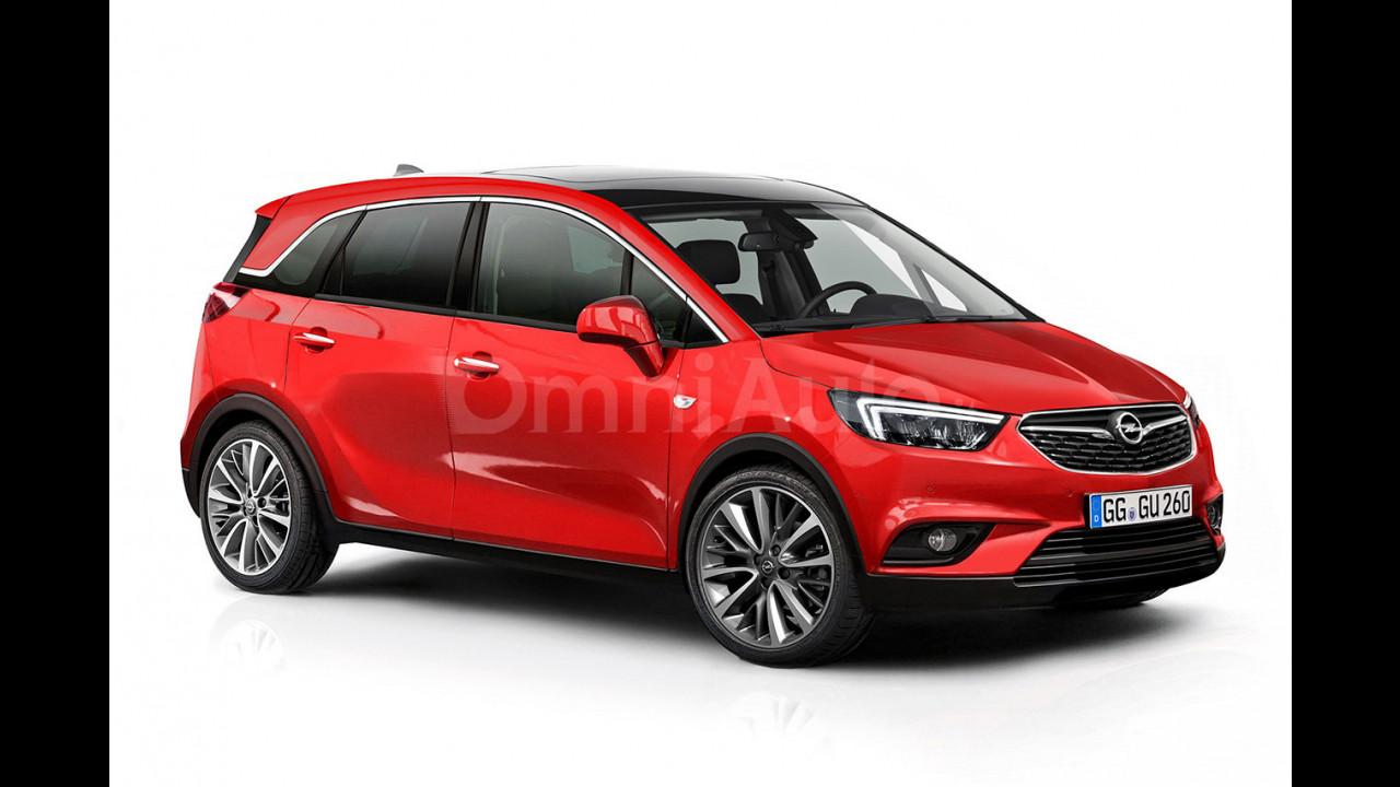 Nuova Opel Meriva, il rendering