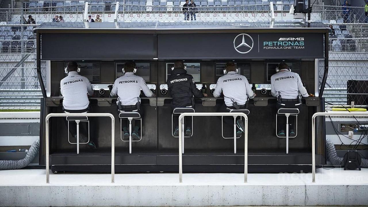 Mercedes AMG F1 Team pit gantry